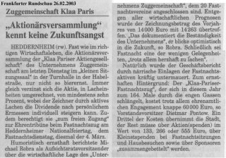 Frankfurter Rundschau 26.02.2003