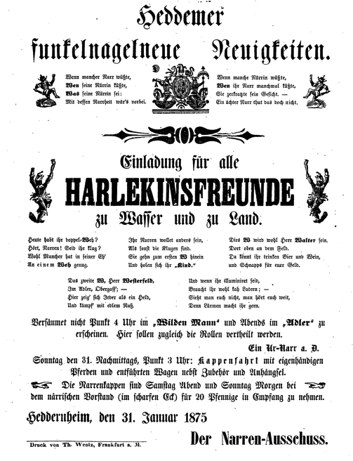 Einladung Harlekinsfreunde