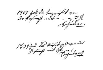 Eintragung Jahre 1839