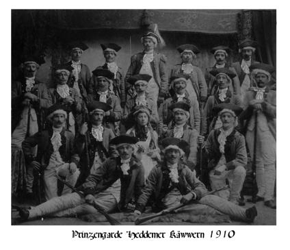 Prinzengarde Heddemer Käwwern 1910